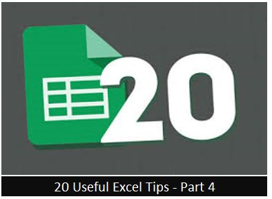 Useful Excel Tips - Part 4