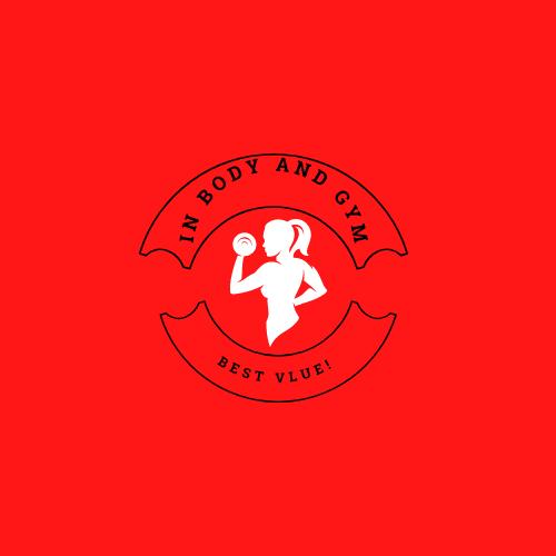 Female Bodybuilder Fitness Club Round Logo.png