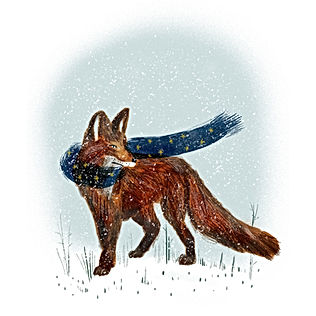 Winter Fox with scarf
