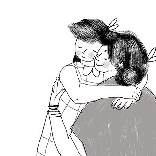 Illustration from 'Sona Sharma, The Very Best Big Sister'. Written by Chitra Soundar