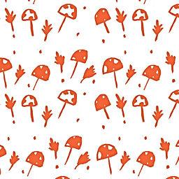 Mushroom Foliage Pattern
