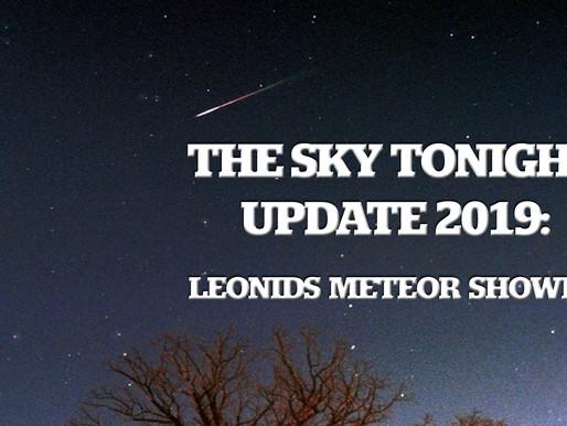 The Sky Tonight Update:  Leonids Meteor Shower