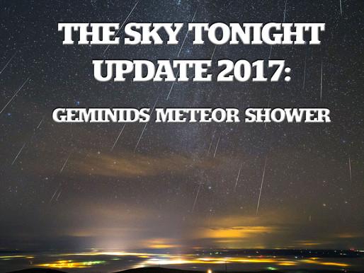 The Sky Tonight Update:  Dec. 13-14, Geminids Meteor Shower