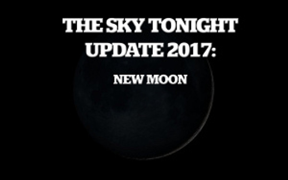 new moon, sky tonight