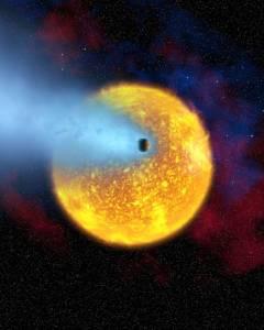 evaporating planet
