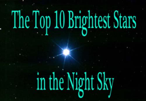 top ten brightest stars