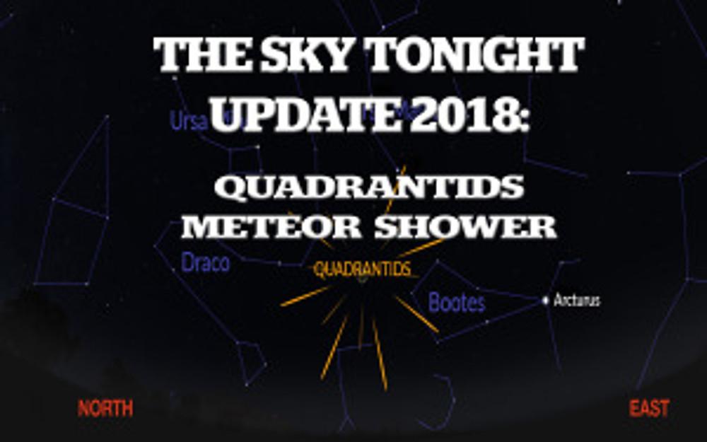 Quadrantids, meteor shower, 2018