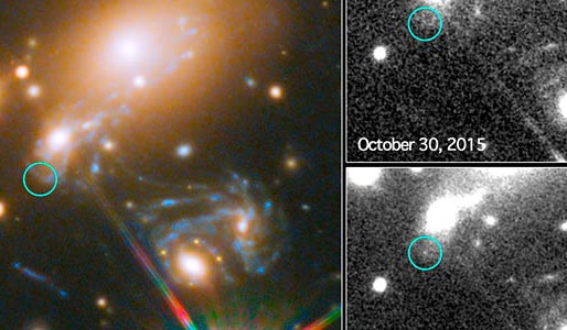 Hubble Captures First-Ever Predicted Supernova