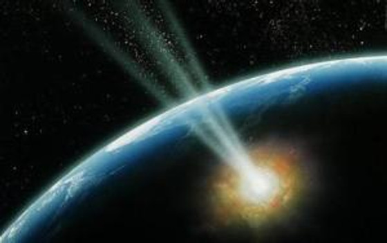 Comet hitting Earth