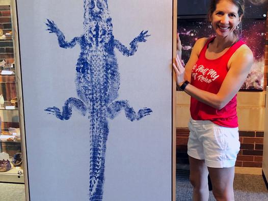 Artist Leslie Charleville Creates Special Edition Blue Alligator Print to Benefit LASM