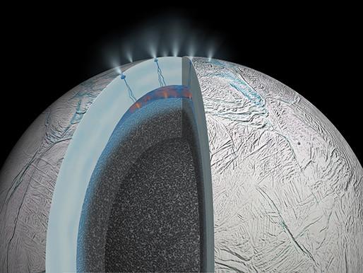 Enceladus May Harbor a Warm Ocean, Life