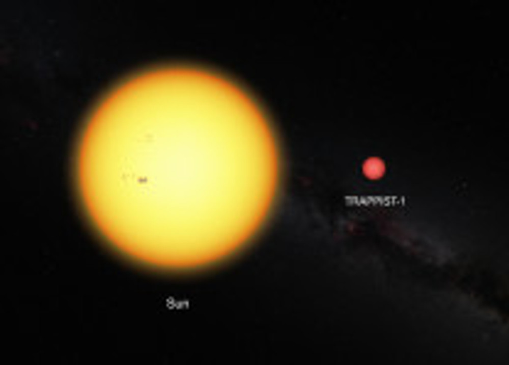 Comparison between the Sun and the ultracool dwarf star TRAPPIST