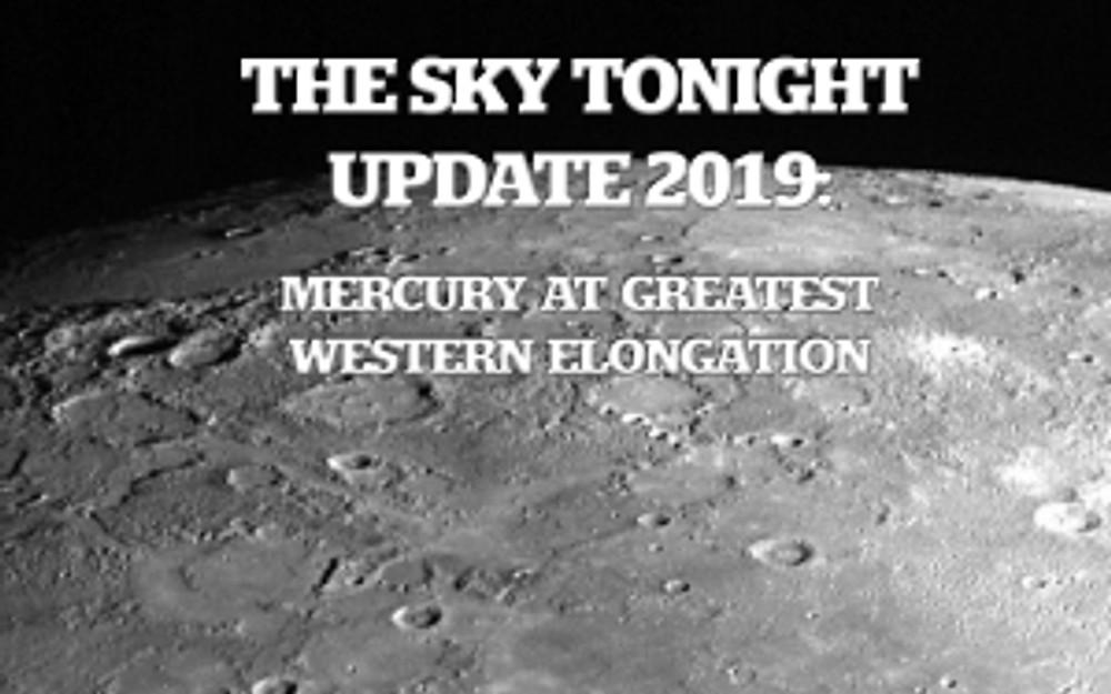 Mercury at Greatest Western Elongation