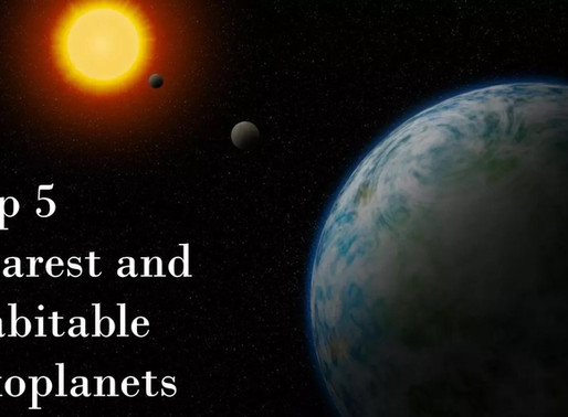 Top 5 Nearest and Habitable Exoplanets