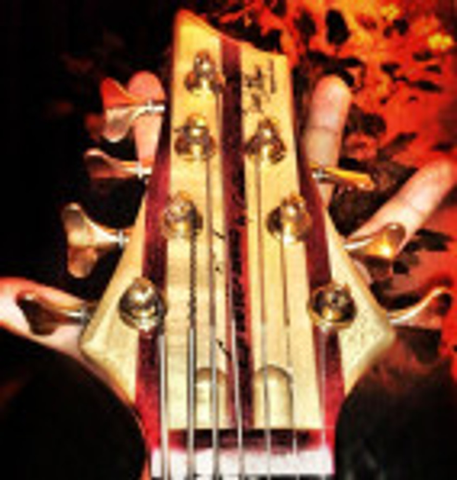 conklin 7-string bass with Jay Lamm