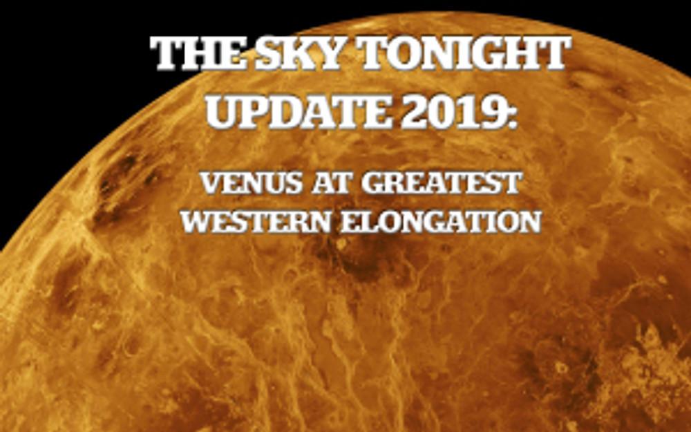 Venus at Greatest Western Elongation