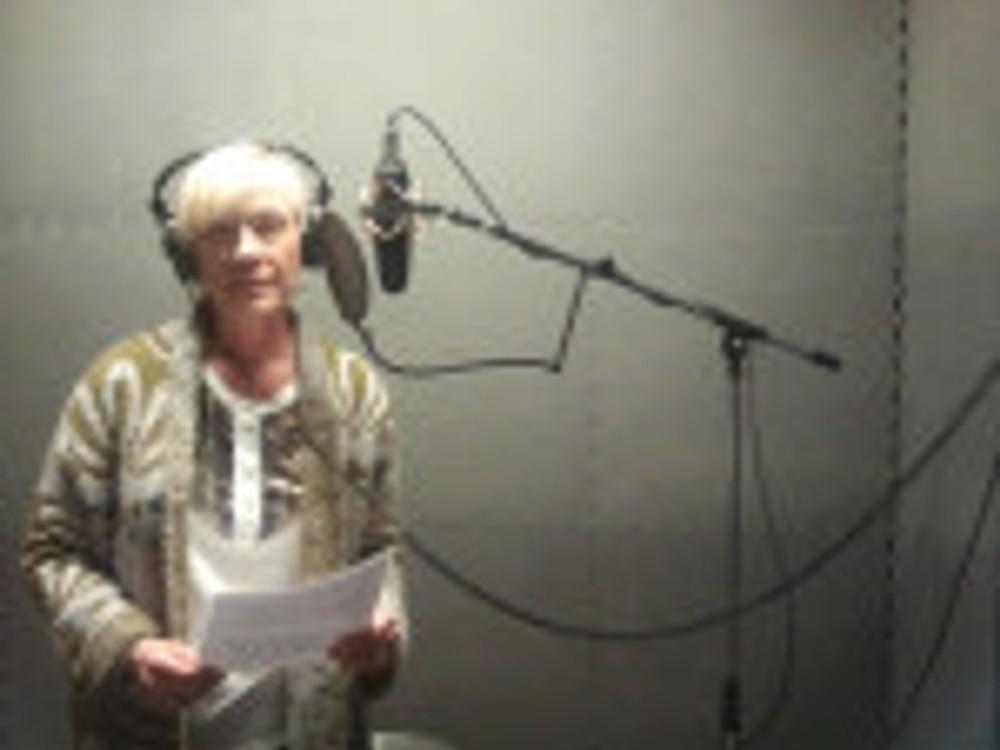 recording voice  over at the planetarium