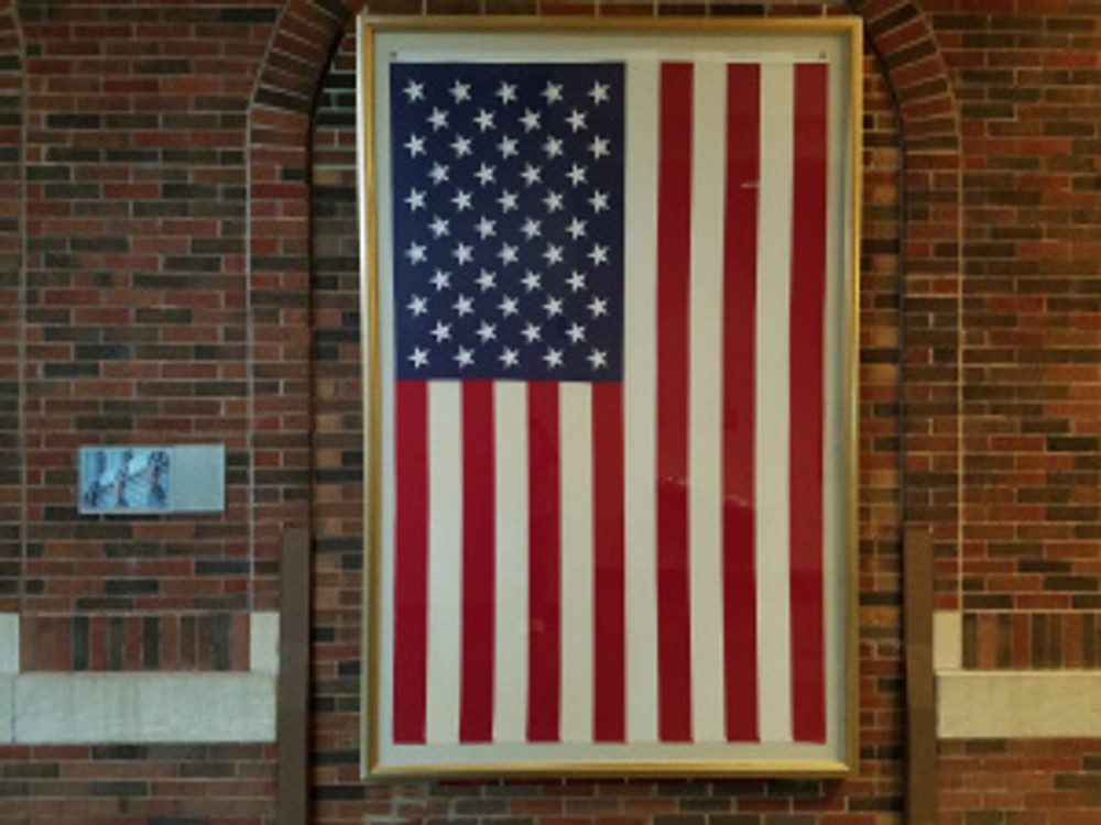 the US flag at lasm
