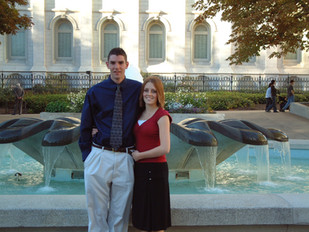 Alicia and I at the Salt Lake Temple during high school (2002)