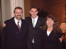 Saying goodbye to my parents at the MTC (February 2004)
