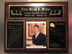 My official missionary plaque, complete with Galatians 2:20