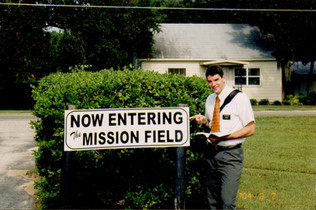 This picture was taken at what is now my home church. Oh the irony! (2004)