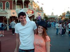 Alicia and I eloping at the Magic Kingdom (2006)