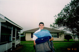 Getting ready for Hurricane Charley (August 12, 2004)