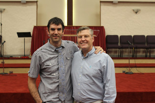 Pastor Alan Benson and I after an Adam's Road event (2018)