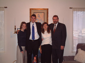 Katie, Mom, and Dad just days before my LDS mission (February 2004)