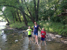 Jacob, Alicia, and Benjamin at the White River (2014)