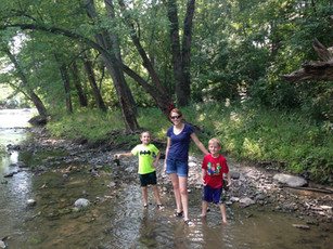 Jacob, Alicia, and Benjamin at the White River (2014)