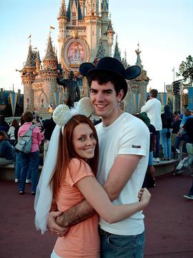 Alicia and I eloping at Disney World on my 21st birthday (January 26, 2006)