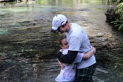 Baptizing my oldest son, Jacob (January 2018)