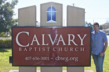 At Calvary Baptist Church after sharing my testimony there (2016)