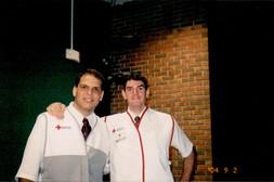 At the Red Cross shelter in Apopka, Florida, during Hurricane Jeanne (September 2004)
