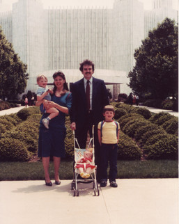 The Wilder family at the DC Temple (1985)