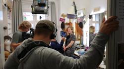 Grenzenlos Dreharbeiten Stadttheater Passau/ Make-up Artist Lydia Geißler/ MDR Dokumentation
