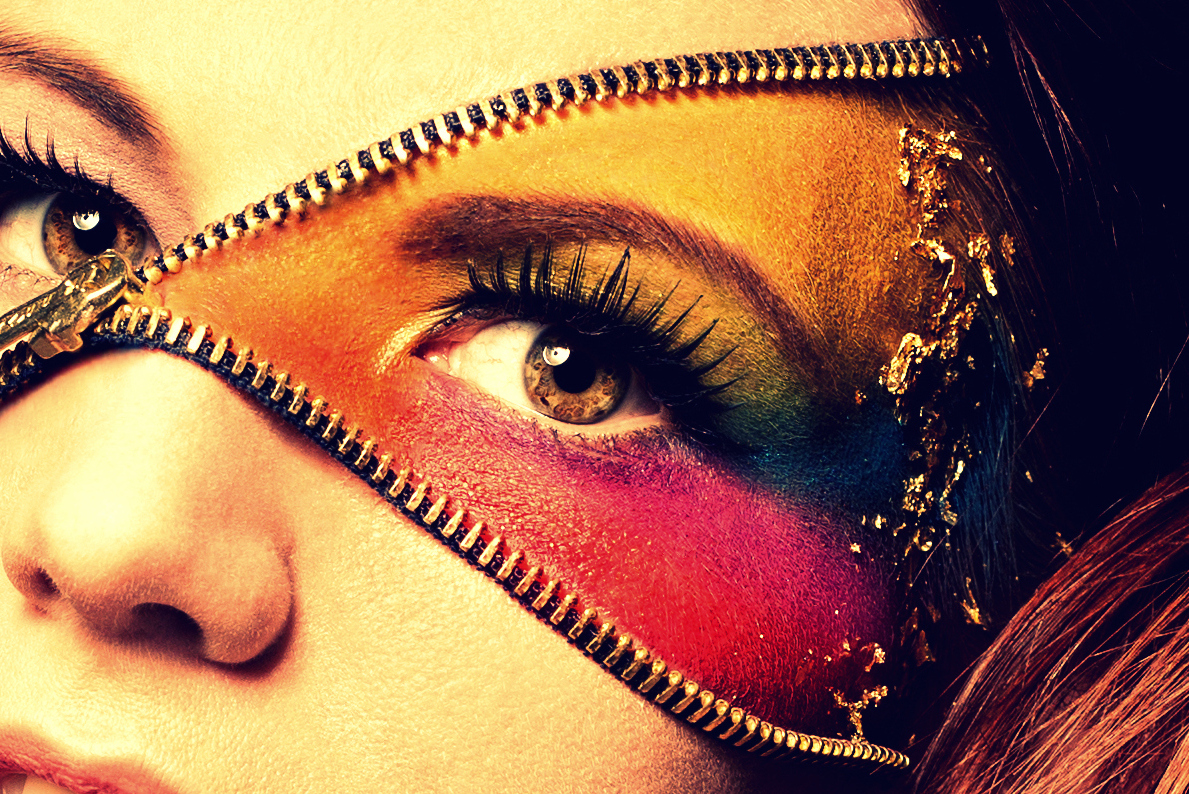 Colorful Make-up/ Zip Make-up