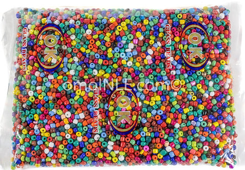 GLASS BEADS SEED BEADS CUENTAS MOSTACILLAS DE CRISTAL COLOR ASSORTED