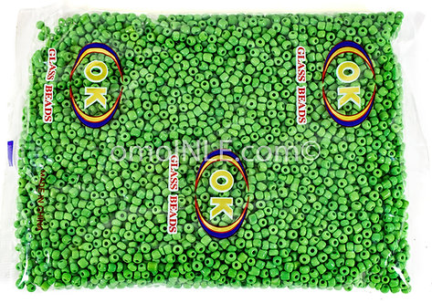 GLASS BEADS SEED BEADS CUENTAS MOSTACILLAS DE CRISTAL COLOR GREEN