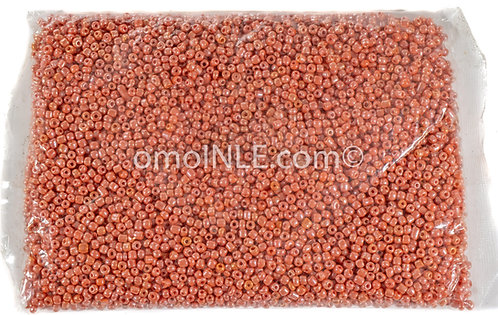 GLASS BEADS SEED BEADS CUENTAS MOSTACILLAS DE CRISTAL COLOR CORAL LUSTER
