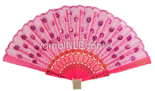 Abanico Rosado Para Obba Muy Buena Calidad, Abanicos. Pink Hand Fans For Oba