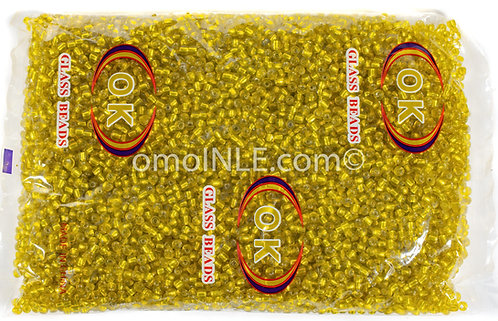 GLASS BEADS SEED BEADS CUENTAS MOSTACILLAS DE CRISTAL COLOR MUSTARD SILVER LINED