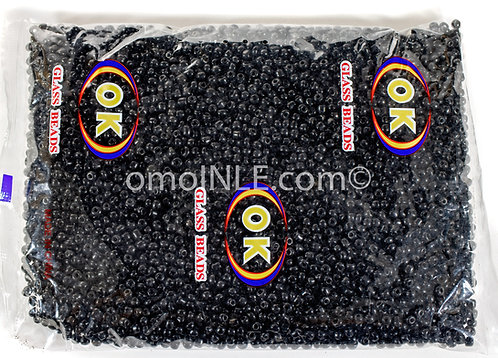 GLASS BEADS SEED BEADS CUENTAS MOSTACILLAS DE CRISTAL COLOR BLACK
