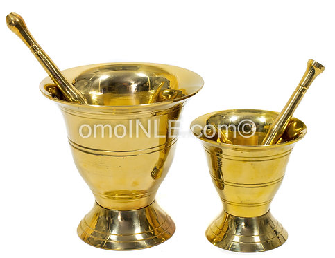 MORTERO DE BRONCE BRASS MORTAR AND PESTLE 2 SIZES AVAILABLE