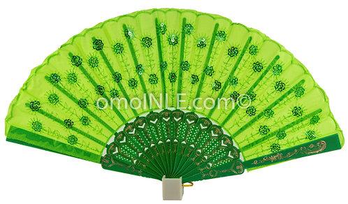 Abanico Verde Para Oshun Ololo Di Muy Buena Calidad, Abanicos. Green Hand Fans