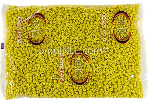 GLASS BEADS SEED BEADS CUENTAS MOSTACILLAS DE CRISTAL COLOR YELLOW