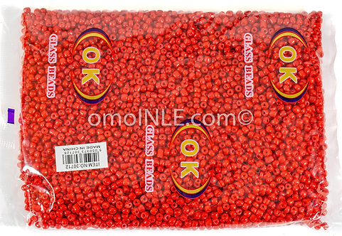 GLASS BEADS SEED BEADS CUENTAS MOSTACILLAS DE CRISTAL COLOR RED
