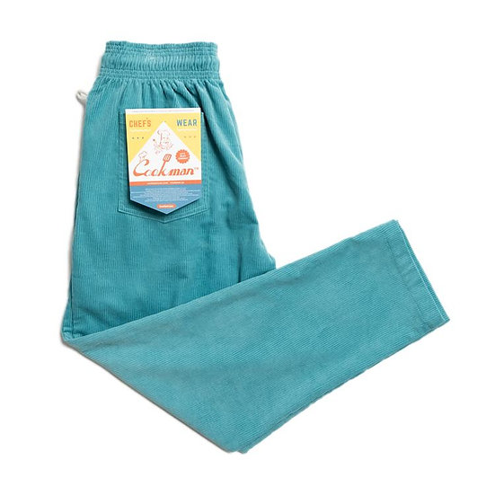 Cookman™️ Chef Pants Corduroy #Turquoise Blue